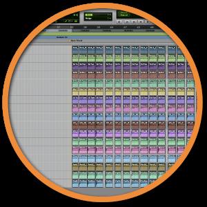 Drum editing badge